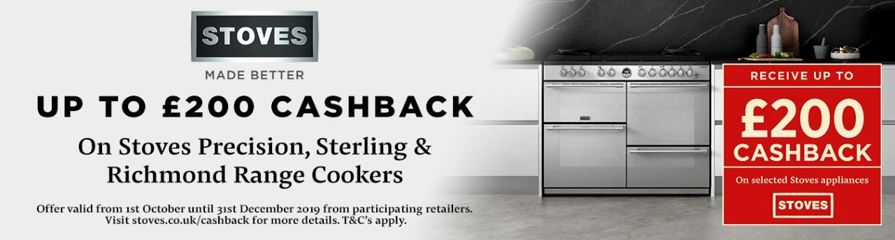 Stoves up to £200 cashback offer