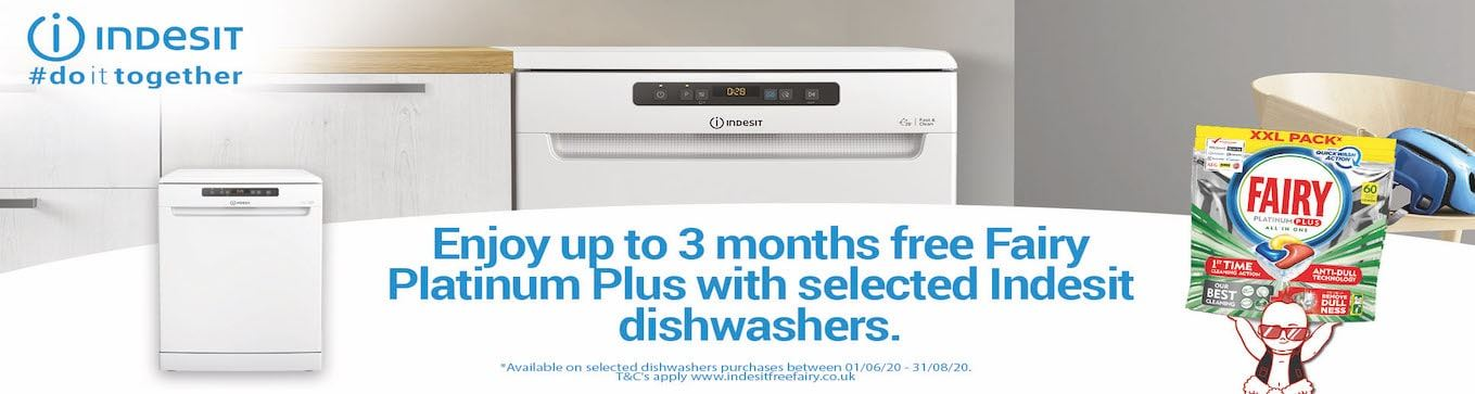 Indesit Dishwashers Fairy Offer