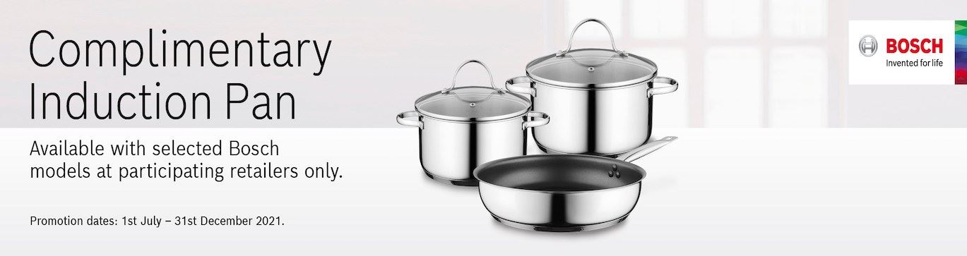 Bosch Induction Pan Homepage Banner July 2021
