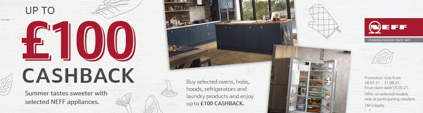 Neff Cashback Homepage Banner - August