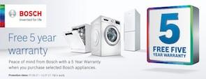 Free warranty Bosch