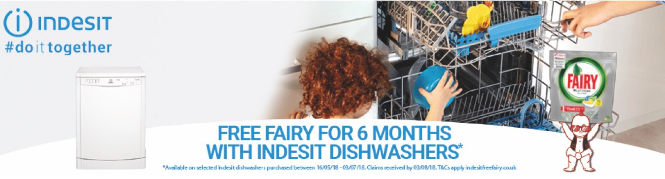 indesit free fairy offer