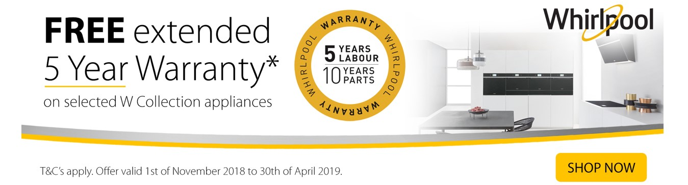 Whirlpool 5 Year Warranty