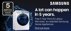 Samsung Washing Machines - Product Listing Top
