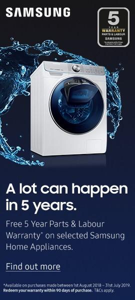 Samsung Washing Machines - Product Listing Bottom