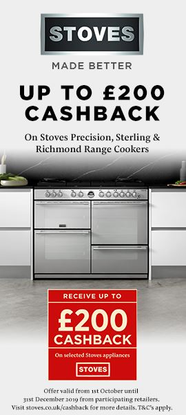 Stoves Range Cookers Cashback Promotion Oct Nov 2019