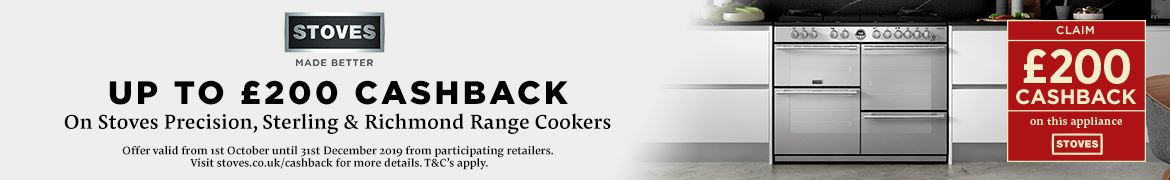 Stoves £200 Cashback Offer 2019