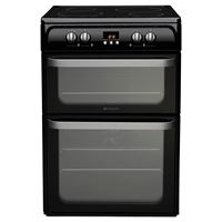 Hotpoint HUI614 K60cm Induction / Ceramic , Catalytic Liners in both ovens , Prog Timer A++ , 4 Control Knobs