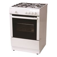 Statesman MAXI60GSF60cm Single Cavity Gas Cooker - White