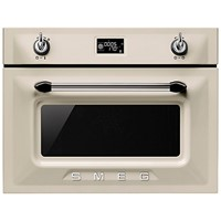 Smeg SF4920VCP45cm Height Victoria Cream Compact Combination Steam Oven A+