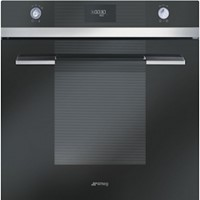 smeg SFP109N60cm Linea Black Glass Pyrolytic Multifunction Single Oven