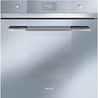 Smeg SFP109S60cm Linea Silver Glass Pyrolytic Multifunction Single Oven