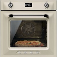 Smeg SFP6925PPZE60cm Victoria Cream Multifunction Pyrolytic Single Oven A+ with Soft Close Door