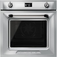 smeg SFP6925XPZE60cm Victoria Stainless Steel Multifunction Pyrolytic Single Oven A+ with Soft Close Door