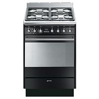 Smeg SUK61MBL860cm Concert Gloss Black Single Cavity Dual Fuel Cooker
