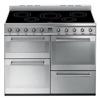 Smeg SYD4110I110cm Symphony Stainless Steel Four Cavity Cooker with Side Opening Ovens and induction hob