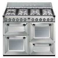 Smeg TR4110X110cm Victoria Stainless Steel Four Cavity Dual Fuel Traditional Cooker with Side Opening Ovens
