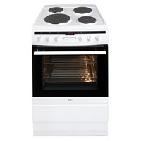 Amica 608EE2TAW60cm freestanding electric cooker with electric hob