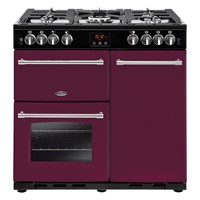Belling Farmhouse 90G in Wild Berry Bristol