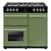 Belling Farmhouse 90G in Soho Green Luton