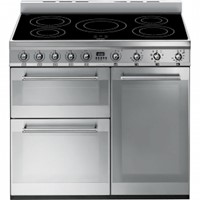 smeg SY93I90cm Symphony Stainless Steel Cooker with Induction Hob
