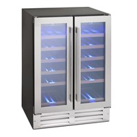 Montpellier WS38SDDX38 BOTTLE DOUBLE DOOR DUAL-ZONE WINE COOLER