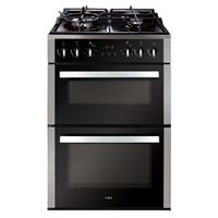 CDA CFD650SS60cm double cavity freestanding cooker, electric ovens, gas hob