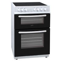 Statesman EDC60W60cm Double Oven Electric Ceramic Hob Cooker White