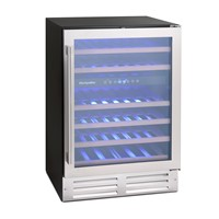Montpellier WS46SDX46 BOTTLE DUAL-ZONE WINE COOLER,