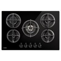 Stoves ST GTG75C Blk / 44441019675cm gas through glass hob