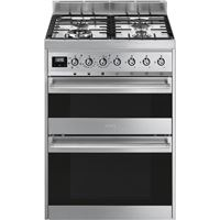Smeg SY62MX960cm Symphony Stainless Steel Dual Cavity Dual Fuel Cooker
