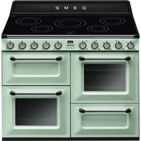 Smeg TR4110IPG110cm Victoria Pastel Green Four Cavity Traditional Cooker with Side Opening Ovens and Induction Hob