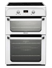Hotpoint HUI612 P60cm Induction / Ceramic , Catalytic Liners in both ovens , Prog Timer A++ , 2 Control Knobs